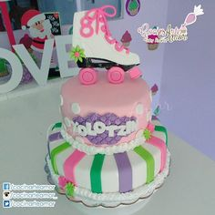 Pastel Diseño Soy Luna para festejar los 8 añitos de Yolotzin. Felicidades!!! 💕🎂🎈👑🎀🎉⭐💜🎁🎊