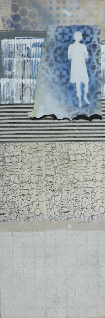 """""""Writing on the Wall"""". collage by Jo Reimer. Sold"""