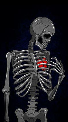Heart Broken Skeleton iPhone Wallpaper – Best of Wallpapers for Andriod and ios Cartoon Wallpaper, Emo Wallpaper, Dark Wallpaper Iphone, Black Wallpaper, Broken Heart Wallpaper, Broken Screen Wallpaper, Art Triste, Arte Com Grey's Anatomy, Heartbreak Wallpaper