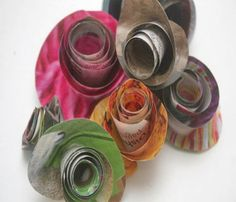 Upcycled Newspapers Beautiful Flower ideas