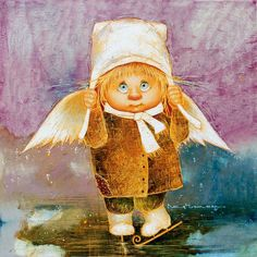 Галерея ARTANGELS.RU Christmas Angels, Christmas Crafts, Cool Pictures, Funny Pictures, Photography Tips Iphone, Naive Art, Illustrations, Little People, Holidays And Events