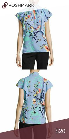 Worthington Short Sleeve Y Neck Woven Blouse-Talls Sleeve Length: Short Sleeve Neckline: Y Neck Fabric Description: Woven Fabric Content: 100% Polyester Country of Origin: Imported Worthington Tops Blouses