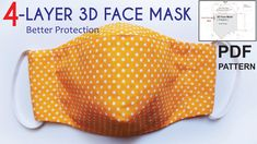 Easy Face Masks, Best Face Mask, Homemade Face Masks, Diy Face Mask, Small Sewing Projects, Sewing Hacks, Sewing Tutorials, Diy Couture, 3d Face