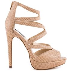 Appolina heels Natural Snake brand heels Shoemint |Heels|