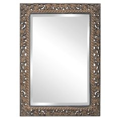 Howard Elliott Bristol Scroll Rectangle Mirror x x - 6041 Cheap Wall Mirrors, Traditional Mirrors, Metal Mirror, Innovation Design, Accent Pieces, Contemporary Furniture, Bristol, Classy, Products