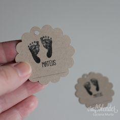 Tags para bem-nascido pezinhos de bebê