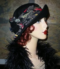 One of a Kind 1920s Inspired Silk Red Devil Hat by Graceful Butterfly WINNER OF THE 2012 Hatty Award