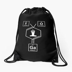 Backpack Bags, Drawstring Backpack, Periodic Elements, Namaste Yoga, Yoga Gifts, Meaningful Gifts, Woven Fabric, Spelling, Accessories