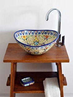 Stilvolle Waschbecken Aus Mexiko In Höchster Qualität #waschtisch  #badinspiration #badinspiration #badezimmer #gu2026 | Pinterest