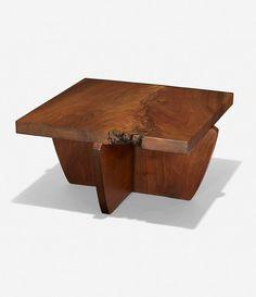 george nakashima furniture | GEORGE NAKASHIMA, Greenrock table, 1979