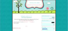 simple, yet cute free blogger templates