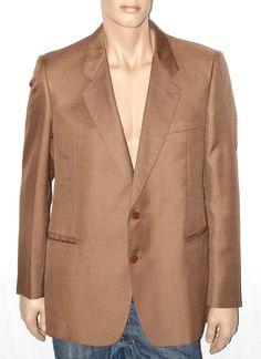 Real Vintage 80s All Wool Man Jacket Size L Branded LAMONT Giacca Uomo Vintage Originale Anni '80 color Marrone Tabacco 100% Lana Taglia L di BeHappieWorld su Etsy