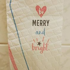You know Christmas is close when the toilet paper tells you... . . . . . #christmas #toiletpaper #merryandbright #christmasisclose #christmasiscoming