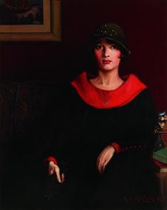 Archibald J. Motley Jr., The Octoroon Girl, 1925. Oil on canvas, 38 × 30 1/4 in. (96.5 × 76.8 cm). Courtesy Michael Rosenfeld Gallery, LLC, New York. Image courtesy the Chicago History Museum. © Valerie Gerrard Browne