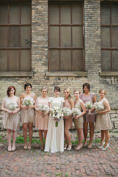 Milwaukee Wedding from Erin Jean Photography  babies breathe bouquets, Turner hall wedding, pabst theatre wedding, blush colored bridesmaid dresses  Read more - http://www.stylemepretty.com/2013/08/06/milwaukee-wedding-from-erin-jean-photography/ film contax 645 fuji400h