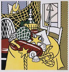 Still Life with Lobster Portfolio: Six Still Lives Castelli Graphics (United States, New York, New York City) Roy Lichtenstein (United States, New York, New York City, 1923-1997) United States, 1974 Prints; screenprints