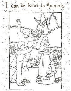 lds primary lesson helps coloring pages | color page example glue page front example glue page back copy the ...