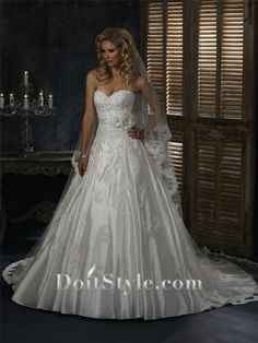 frozen inspired wedding | ... super/Sweetheart-Ball-Gown-Applique-Satin-Wedding-Dress-p145856-2.jpg