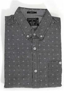 Artistry in Motion Chambray Print Shirt in Charcoal for Men AW037-JP606