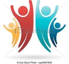 Happy People Family Group Logo. Vector Illustration - csp40047840