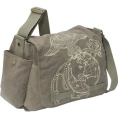 Rothco Vintage Classic Messenger Bag - U. Marine Corps -- I haz this, love it. Best Diaper Bag, Baby Diaper Bags, Marine Baby, Usmc Baby, Rock Baby Showers, Canvas Messenger Bag, Baby Hands, Baby Store, Stylish Kids