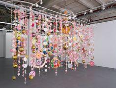 Go See – Berlin: Beatriz Milhazes at Galerie Max Hetzler through November 2011 Bg Design, Instalation Art, Mobile Art, Hanging Mobile, Ecole Art, Art Object, Art Plastique, Op Art, Mobiles