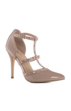 Primark - Sapatos de salto alto tiras tachas nude
