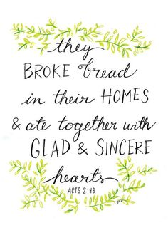 Lovely print on hospitality >> Fellowship Acts Bible Print by LovelyLetteringByJo on Etsy Bible Quotes, Bible Verses, Scriptures, Jesus Quotes, Quotable Quotes, Qoutes, Hospitality Quotes, Southern Hospitality, Cool Words