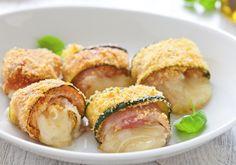 Involtini di zucchine con pancetta e fontina ricetta