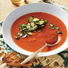 Grilled Vegetable Gazpacho | CookingLight.com