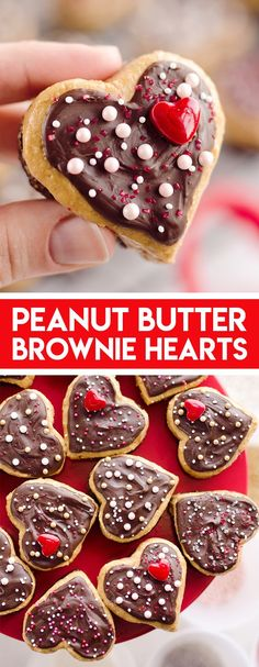Peanut Butter Buckeye Brownie Hearts are the perfect sweet for your special Valentine. They combine two of the best desserts into one amazing treat with brownies and peanut butter buckeyes! Valentine Desserts, Valentines Food, Fun Desserts, Dessert Recipes, Valentine Treats, Meal Recipes, Sweet Recipes, Recipies, Dinner Recipes