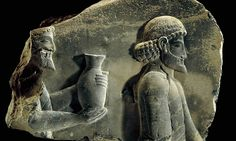 Digging into forgotten stories ... a stone relief showing gift-bearers with a vase found in Persepolis from ancient Persia.