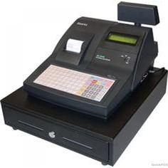 SAM4S ER390MB Cash Register with Membrane Keyboard Black