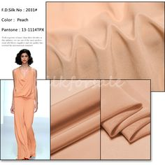 http://www.silkfabricwholesale.com/12mm-silk-crepe-de-chine-fabric-peach.html     F.D. silk most professional 12mm silk crepe de chine fabric-peach supplier.