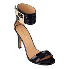 Get out of the way, Estrilada just walked into the room. This open-toe ankle-strap sandal idefinitely has serious day-into-night versatility. Adjustable buckle closure. Padded footbed for all-day comfort. Leather upper. Man-made lining and sole. Imported. 4 inch heels. Women's shoes. Open-toe sandals.