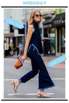 WEEKDAY STYLE:抜け感のあるレディなエッセンスでデニムonデニムをアップデート   FASHION   ファッション   VOGUE GIRL