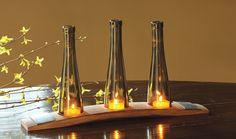 Des cierges confectionnés à partir de bouteilles de vin... #GlassIsLife