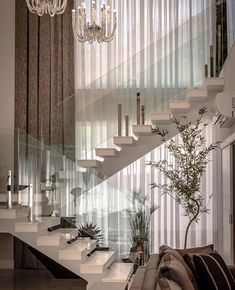 ideas home decored living room modern stairs for 2019 Luxury Homes Dream Houses, Dream House Interior, Interior Stairs, Home Interior Design, Exterior Design, Home Stairs Design, Dream Home Design, Modern House Design, House Staircase