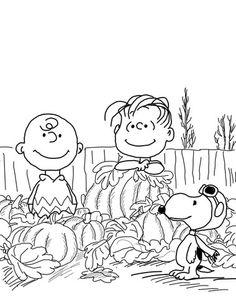 Great Pumpkin Charlie Brown Coloring Page