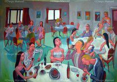 """""""El Restaurant"""", 70 x 100 cm, acrylic on canvas, year 2010"""