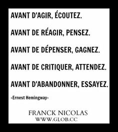 l'impératif Mind Thoughts, Positive Thoughts, French Proverbs, Quote Citation, French Words, Try To Remember, Teaching French, Famous Quotes, Inspire Me