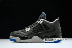"fd9c38a97712 Women Men Air Jordan 4 Retro ""Motorsport Away"" Black Game Royal-Matte  Silver 308497-006 2020 New Year Deals. 808607308074163044847239817338192829"