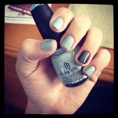 Grey-blue with black metallic