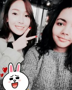 Jessica Jung with a Fan