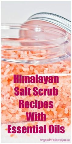 Himalayan salt scrub recipe with essential oils - Protection Solaire Salt Scrub Recipe, Bath Salts Recipe, Body Scrub Recipe, Diy Body Scrub, Diy Scrub, Oil Recipe, Neutrogena, Body Scrubs, Beauty Recipe