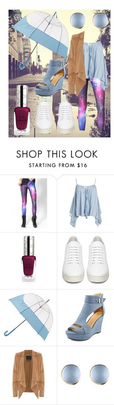 """""""april showers"""" by sheepies6 ❤ liked on Polyvore featuring WithChic, Sans Souci, By Terry, Off-White, Hunter, Oui, Spring and rain"""