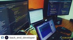 #Repost @back_end_developer programmers are amazing  follow @woplearncode  Have you ever code in multiple languages in the same time ?  This is my workstation while I was coding in open moi for parallel computing php and mysql query.  Amazing right?  #programmer #programmingquotes #programming #code #coding #hack#bug #feature #computers #programminglife #hacker #hacking #geek #java #linux #ios #swift#php #os #macbook #hardwork #android #java #xml #app #application #apple #mac by…
