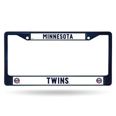 Minnesota Twins MLB Licensed Blue Painted Chrome Metal License Plate Frame