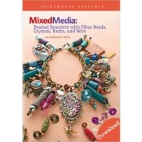 Mixed Media: Beaded Bracelets with Fiber Beads, Crystals, Resin, and Wire Video Download