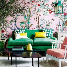 Discover the best design ideas and interiors inspiration on HOUSE by House & Garden, including this scheme based bright blooms and foliage